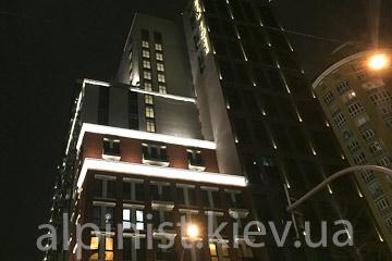 архитектурное наружное освещение new york house