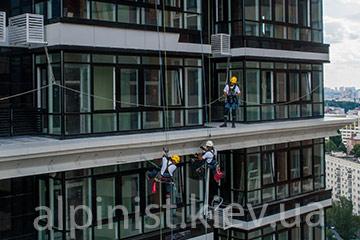монтаж наружного освещения на фасадах зданий киева и украины