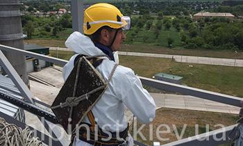 ремонт зернохранилищ  альпинистами киев