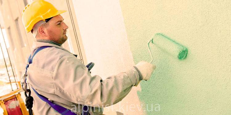 покраска фасада дома альпинистами фото слайдера