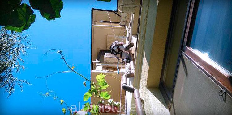 монтаж водосточных труб альпинистами фото слайдера