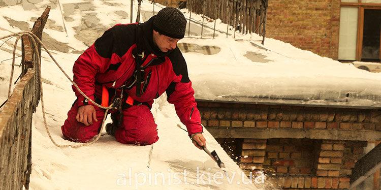очистка снега с крыш бесан инвест фото слайдера