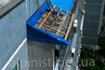 ремонт крыши балкона на любой высоте фото