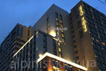 Подсветка фасада здания. ЖК New York House