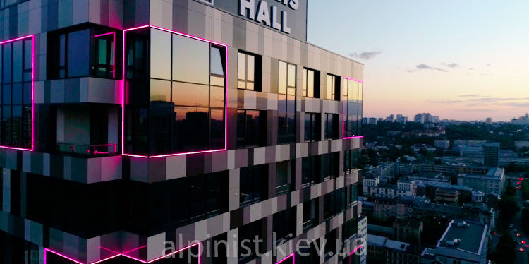 монтаж наружного освещения тетрис холл фото слайдера
