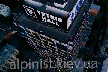 Подсветка фасада здания Тетрис Холл, результат нашей работы